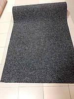 Черный износостойкий ковролин на резиновой основе Бельгия Sumatra .ширины: 1;  2; 3; метра