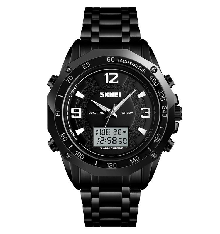 Skmei 1504 чорні чоловічі спортивні годинник