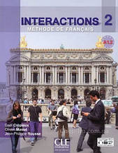 Interactions 2 Méthode de Français A1.2  Livre + Cahier d`exercices + DVD-ROM / CLE International