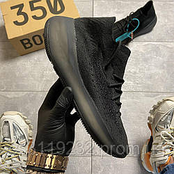 Мужские кроссовки Adidas Yeezy Boost 380 V3 Triple Black (черные)