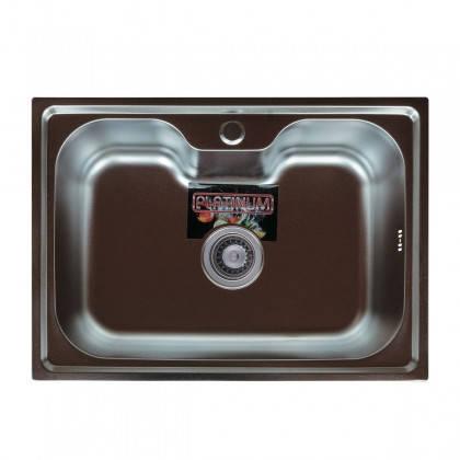 Мойка из нержавеющей стали 08мм Platinum 6043  сатин, фото 2