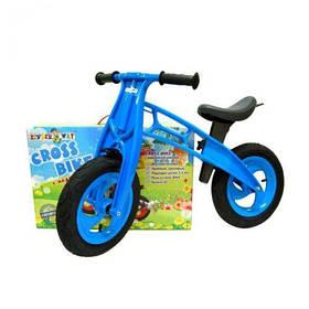 """Беговел """"Cross Bike"""", 12"""" (синий)  sct"""