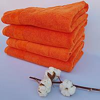 Банное полотенце махра хлопок Апельсин