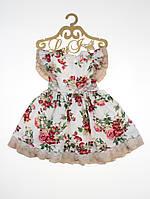 """Нарядное платье для девочки """"Камилла"""" 74-80 размер"""