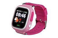 Умные детские часы Baby Smart Watch Q90 Розовые