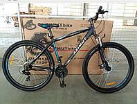 """Горный велосипед 29 дюймов Azimut Spark. Дисковые тормоза. 19"""" рама. Черно-синий, фото 1"""