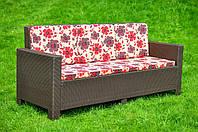Диван из искусственного ротанга Milan, диван из ротанга, мебель из ротанга, ротанговый диван