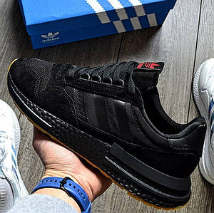 Мужские кроссовки Adidas ZX 500 RM Black, адидас зх 500