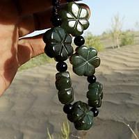 Браслет нефритовий оригінал жіночий з натурального каменю