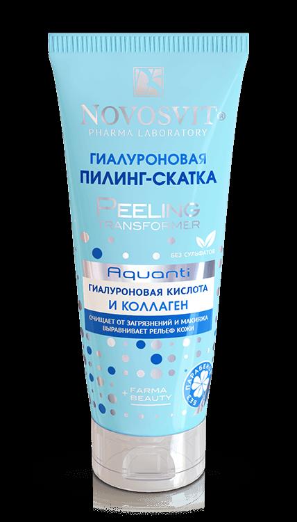 NOVOSVIT Гиалуроновая пилинг-скатка Aquanti гиалуроновая кислота и коллаген 100мл.Новосвит