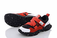 Детские кроссовки для мальчика на липучке 6-11 лет