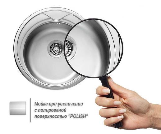 Мойка из нержавеющей стали 08мм Platinum 7642 polish, фото 2