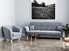 """Прямий не розкладний диван у сірій високоякісній тканині  """"Романтік"""", фото 4"""