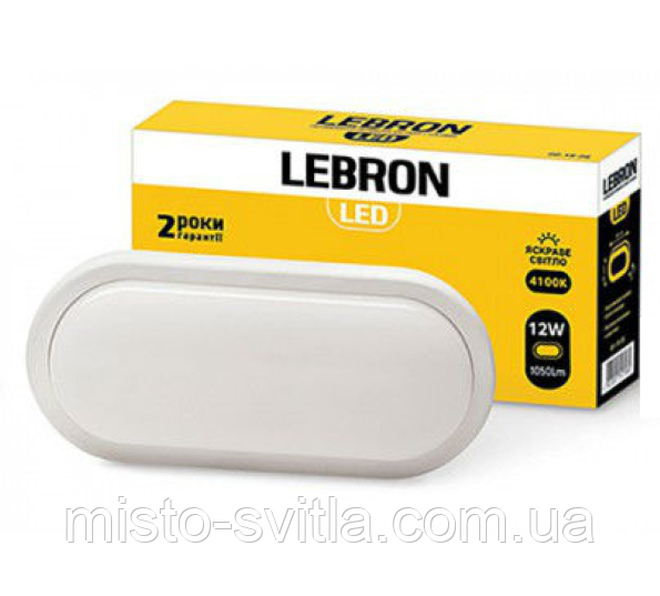 Светодиодный светильник 18W 4100K IP54 L-WLO Lebron овал Леброн