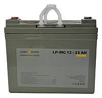 Аккумулятор мультигелевый Logicpower LP-MG 12V 33AH, (AGM) для ИБП