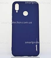 Силиконовая накладка для Huawei P Smart Plus, Nova 3i синий SMTT Soft Touch