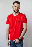 Красная футболка с надписями LEVI'S ЛЕВИС ЛЕВАЙС