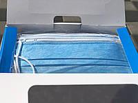 Маска одноразовая, медицинская, пропаянная, трехслойная цвет голубой, Минимальный заказ по 50 шт., фото 1