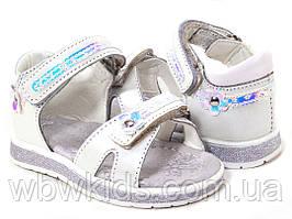 Босоніжки Clibee білі AB-30 для дівчинки