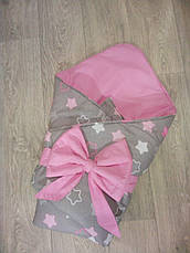 Детский летний конверт на выписку, конверт-одеяло (ЛЕТО), конверт-плед для новорожденного, фото 3