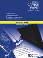 Бумага копировальная, черная, А4, 100 л.