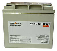Аккумулятор гелевый Logicpower LP-GL 12V 40AH, для ИБП, фото 1