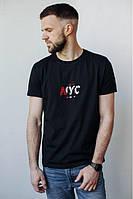 Мужская футболка с надписями NYC