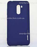 Силиконовая накладка  для Xiaomi Pocophone F1 синий SMTT Soft Touch