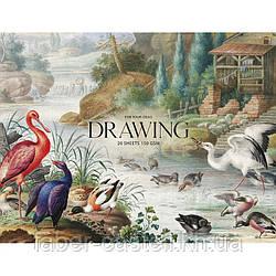 Скетчбук / альбом-склейка для рисования MUSE Drawing А4+, плотность 150 г/м2, 20 листов