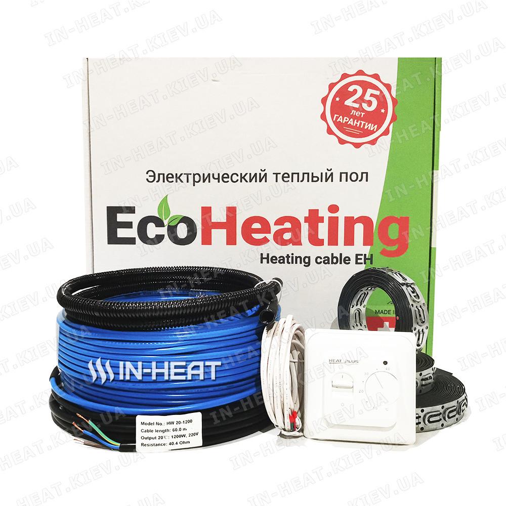 Нагревательный кабель EcoHeating 20 / 30 м / 3 - 3.7 м² / 600 Вт