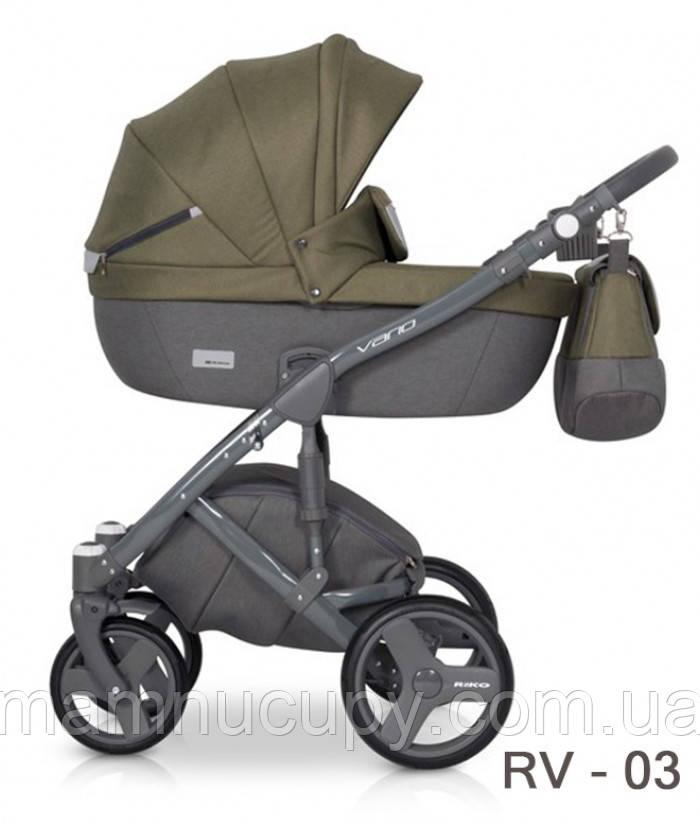Детская универсальная коляска 2 в 1 Riko Vario 03 Olive (Рико Варио)