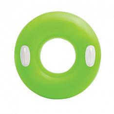 Надувной круг с ручками Intex 59258 (Зелёный)
