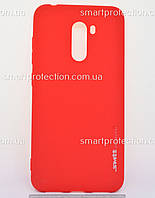 Бампер для Xiaomi Pocophone 1 красный SMTT Soft Touch