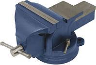 Тиски слесарные поворотные синие  100мм