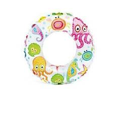 Надувной круг Intex 59241-1 (61 см) Осьминоги Белый