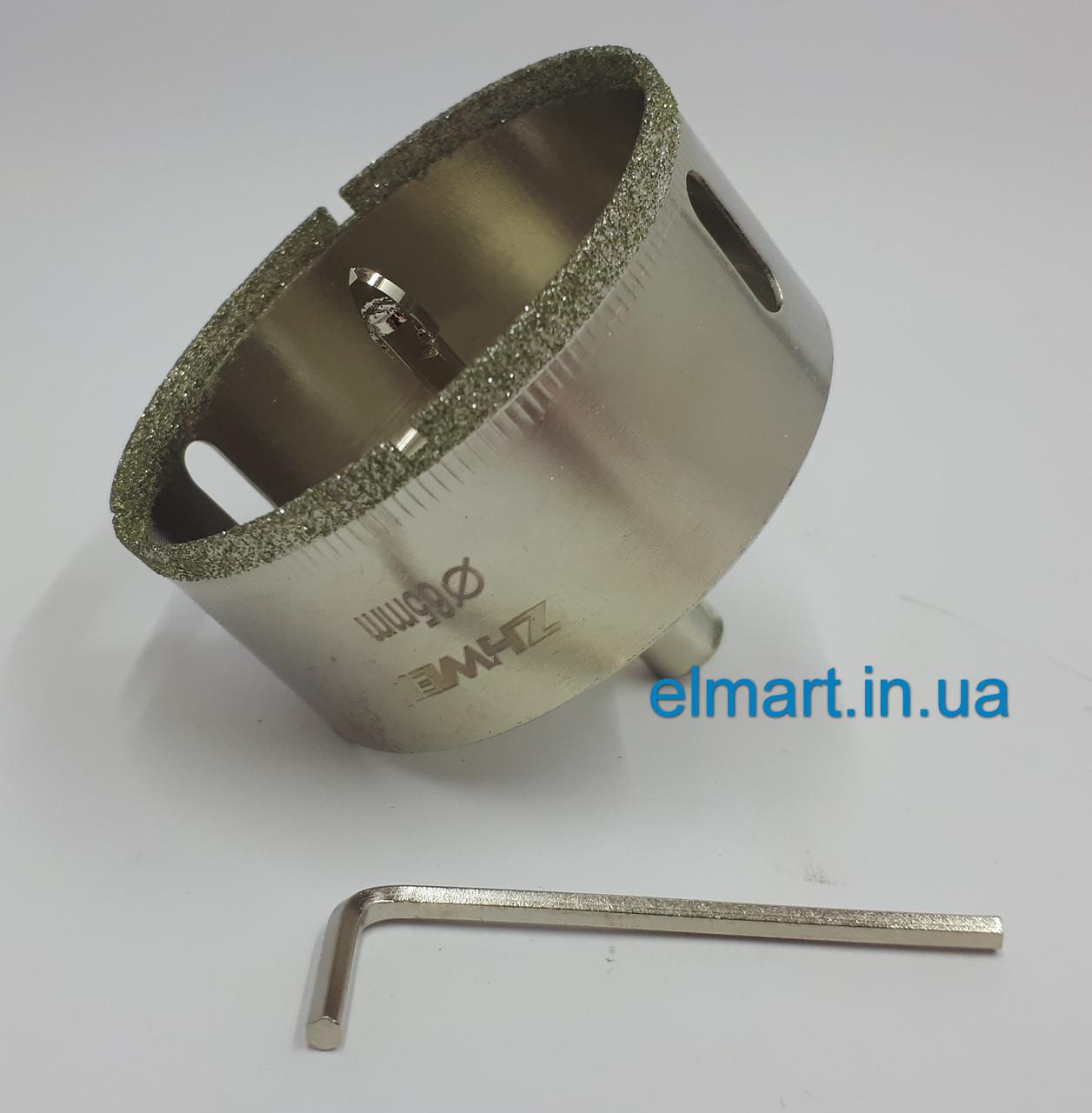 Коронка діамантова 22 mm з напрямних свердлом c пером по плитці і склу (zhiwei)