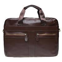 Мужская кожаная сумка Borsa Leather K11120-brown