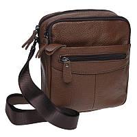 Мужская сумка на плечо Borsa Leather K11029-brown