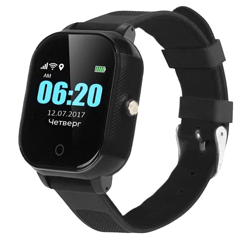 Смарт-часы детские JETIX DF50 Ellipse OLED с Wi-FI и Защитой от воды IP67 (Black)