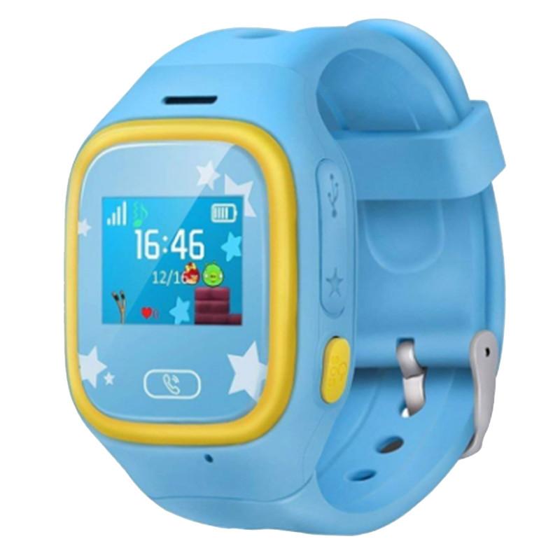 Смарт-часы детские JETIX Tiny 2 Kid GPS с виброзвонком и WiFi  (Blue)