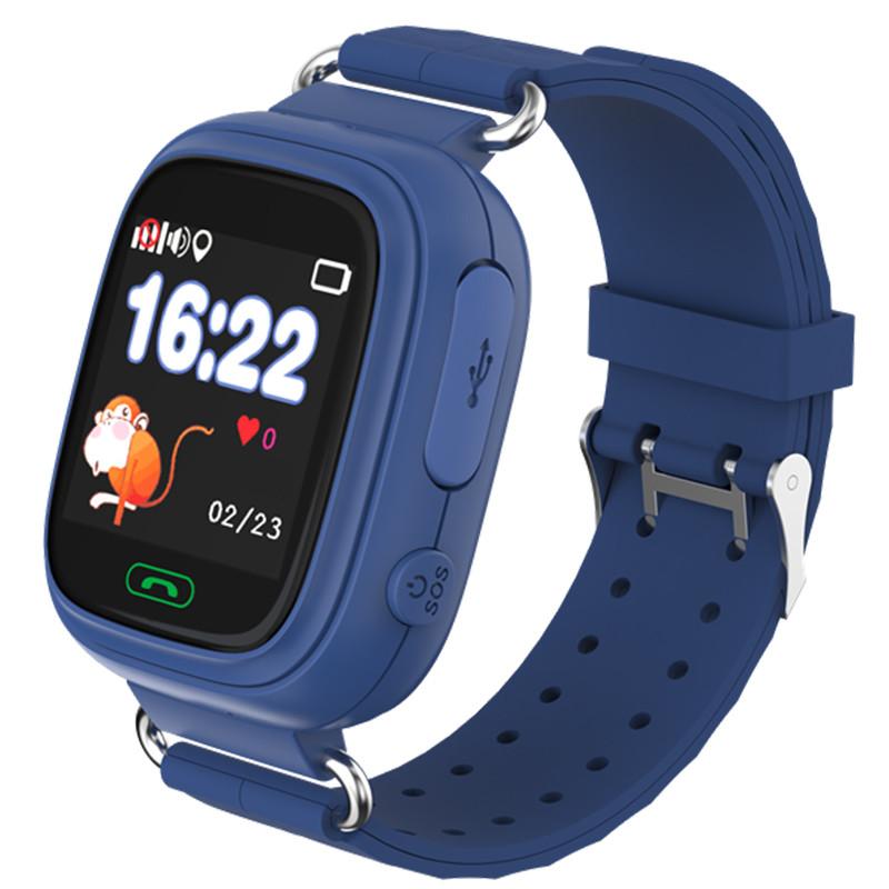 Смарт-часы детские JETIX Q90 с виброзвонком и WiFi (Dark Blue)