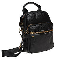 Мужская кожаная сумка через плечо Keizer K108-black