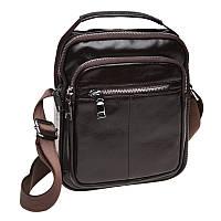 Мужская кожаная сумка через плечо Keizer K16018-brown