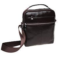 Мужская кожаная сумка через плечо Keizer K16013-brown