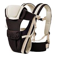 Сумка-кенгуру SUNROZ BP-14 Baby Carrier рюкзак для переноски ребенка Черно-Белый