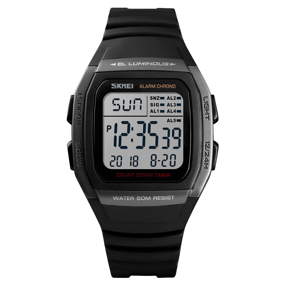 Skmei 1278 сріблясті чоловічі спортивні годинник