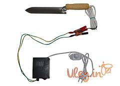 Нож пасечный с электроподогревом из Нержавеющей стали «Гуслия» с блоком питания и регулятором температуры