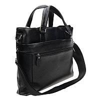 Мужская кожаная сумка Borsa Leather 10t098-black