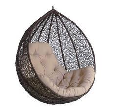 Підвісне садове крісло гойдалка кокон крапля куля плетене з ротанга Українські Конструкції Гарді Біг Gardi Big