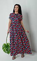 Легкое свободное молодёжное платье размеры двойные 44-46,48-50